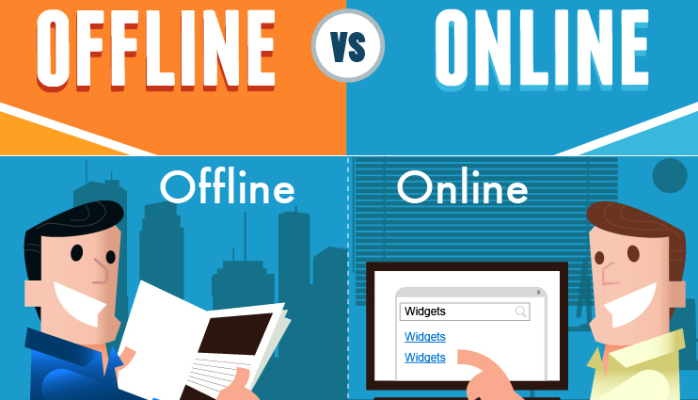 Marketing offline vs. marketing online